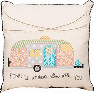 Glory Haus 7290513 Home is Wherever I'm with You Pillow, Multicolor