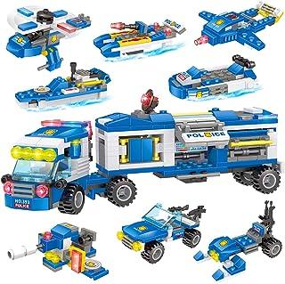 2021 New City Police Building Blocks Set STEM Building...