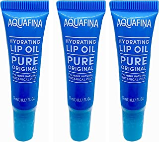 Aquafina Hydrating Lip Oil Lip Balm Pure Original, 3 Tubes