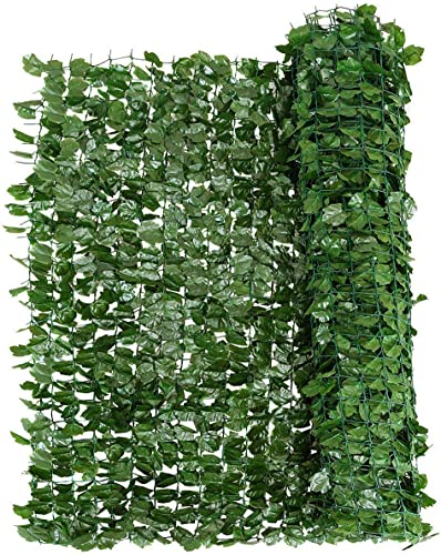 """discount Giantex lowest Artificial wholesale Hedges Faux Ivy Leaves Fence, Artificial Ivy Privacy Fence Screen, Mesh Backing, Decorative Trellis for Outdoor Garden Porch Patio (40""""x95"""") outlet sale"""