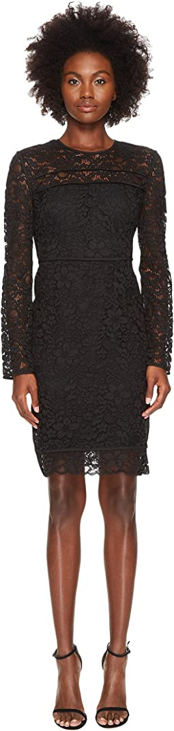 Sportmax Nancy Long Sleeve Lace Dress