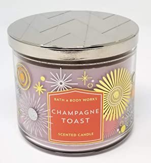 Bath and Body Works Champagne Toast 3 Wick Scented Candle Winter 2018