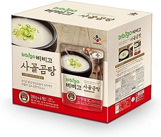 bibigo Korean Beef Bone Broth Soup, Ready-to-Eat, 17.6 Ounce (6-Pack)