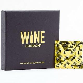 Condones vino y bebidas botella tapones de, oro envases de papel, Juego de 6, esmoquin negro
