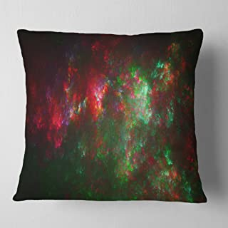 Designart Multi Color Starry Fractal Sky' Abstract Throw Living Room, Sofa, Pillow Insert + Cushion Cover Printed On Both ...