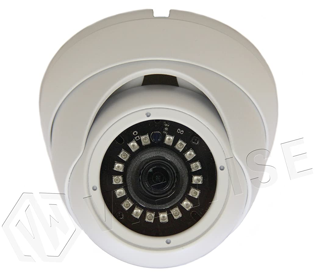 VIEWISE 1080P 2 Megapixel Indoor / Outdoor Surveillance Security Camera Video Monitoring Night Vision 4-in-1 HD-TVI, AHD, CVI, CVBS Camera (White Dome Fixed)