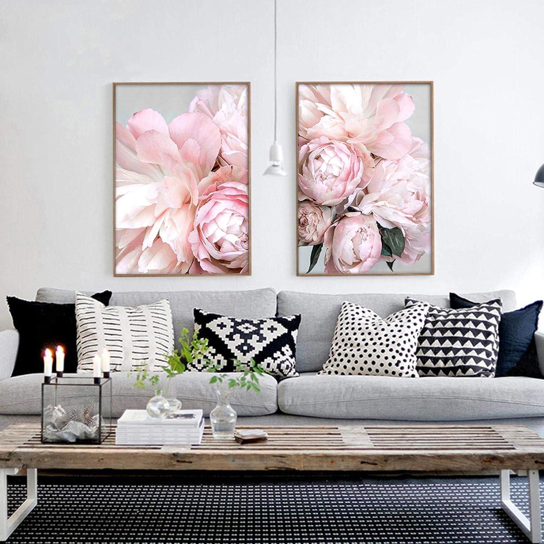 Peony Wall Art Canvas Poster Minimalist Print Painting Sc 5 ☆ very popular Flower Popular product