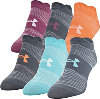 Under Armour Women's Essentials No Show Socks, 6 Pairs Socks