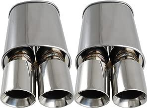 Burnout Spun-locked Exhaust Universal Oval Muffler 3.5