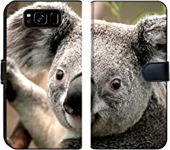 Samsung Galaxy S8 Flip Fabric Wallet Case Image of Koala Animal Bear Nature Australia Wildlife Grey Marsupial Wild Australian Tree Furry Mammal Cute Fur