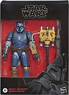 Star Wars E6996 The Black Series Heavy Infantry Mandalorian Deluxe Action Figure Blue/ Brown/ Black