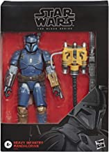 Star Wars The Black Series Heavy Infantry Mandalorian Toy 6-inch Scale The Mandalorian Collectible Deluxe Action Figure, K...