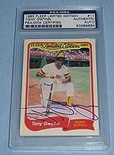 Tony Gwynn Signed 1985 Fleer Limited Edition Baseball Card #11 COA Auto - PSA/DNA Certified - Baseball Slabbed Autographed Cards