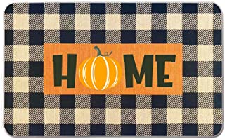 Fall Pumpkin Welcome Doormat 18 x 30 Inch,Fall Decorative Rug Thanksgiving Non-Skid Floor Mat Switch Mat Low-Profile Floor...