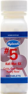 Cold Medicine and Sore Throat Relief, Natural Treatment of Colds, Sore Throats, Runny Nose, and Burns, Hyland's #5 Cell Sa...