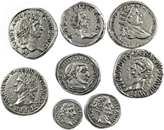 Eurofusioni Ancient Roman Coins Silver Plated - 8 Pieces
