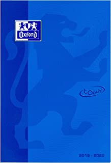 Oxford 400114035 School Diary 2019/2020 10 Pack with 5 Colours Touch 1 Day per Page with 176 Sheets Optic Paper SCRIBZEE C...