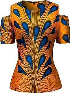 Women African Print Shirt Slim Fit Clubwear Party Shirt Blouse Top