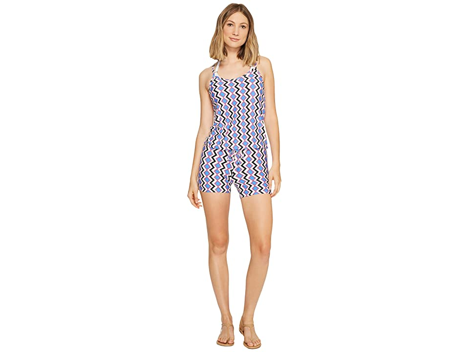 6ffe915b3c7 Splendid Astoria Romper Cover-Up (Blue) Women s Swimsuits One Piece