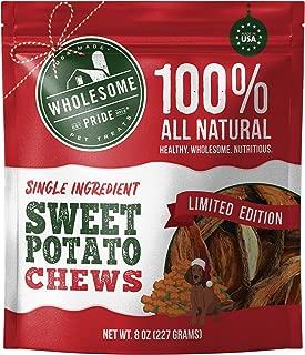 Wholesome Pride Sweet Potato Chews - All Natural Healthy Dog Treats - Vegan, Gluten and Grain-Free Dog Snacks