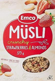 Emco Crunchy Muesli, Strawberries And Almonds, 375 gm