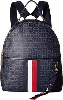 Roma Backpack Square Mono Coated Canvas