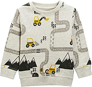 HUAER& Baby Boy's Crewneck Cotton Long Sleeve Pullover Sweatshirt