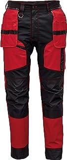 Keilor Pantalones de Trabajo para Hombre con Bolsillos para Rodillera, Bolsillos Multifuncionales y Cintura Elástica