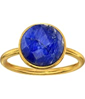 Dee Berkley - Single Round Stone Adjustable Ring Dyed Sapphire