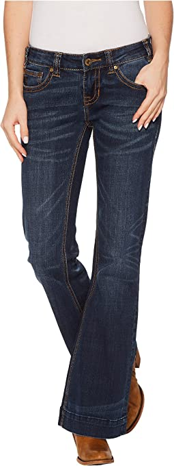 Rock and Roll Cowgirl - Trousers Fit in Dark Vintage W8-4618