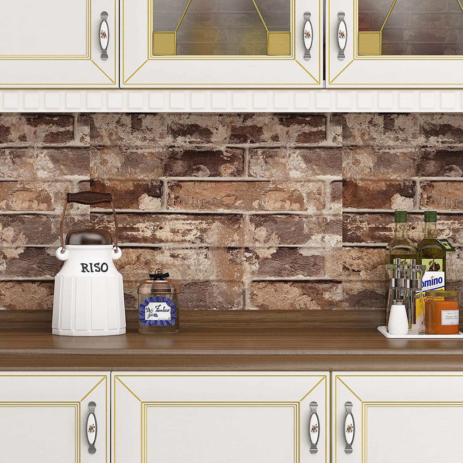 Buy Livelynine Removable 3d Faux Brick Wallpaper Peel And Stick Stone Wall Paper Roll For Living Room Bedroom Accent Wall Kitchen Backsplash Bathroom Wall 15 8x78 8 In Online In Indonesia B08h2jk65z