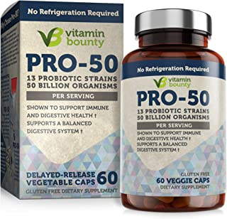 Sponsored Ad - Vitamin Bounty Pro 50 Probiotic with Prebiotics - 13 Strains, 50 Billion CFU, for Immune Support, Gut & Dig...