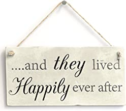 Meijiafei ...and They Lived Happily Ever After - Romantic Wedding/Anniversary Sign Gift 10