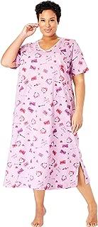Women's Plus Size Long Print Sleepshirt