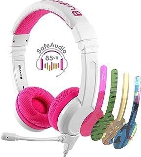 BuddyPhones SCHOOL PLUS - Volume-Safe Audio Headset for Kids, Foldable, Adjustable, w/Detachable 3.5mm Jack & High-Perform...