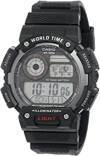 Casio G-Shock Black Rubber Casual Watch For Men - AE-1400WH-1AVDF, Resin