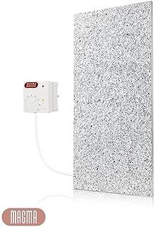 Magma - Calefactor por infrarrojos con regulador de temperatura (potencia: 400 W), diseño de granito, color gris y blanco