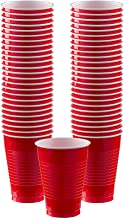 Red Reusable Plastic Cups Parties