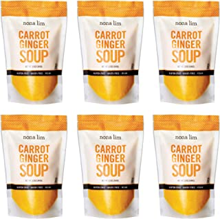 Nona Lim Carrot Ginger Soup - Vegan, Gluten Free, Dairy Free, Non GMO (12 oz., 6 Count) - Packaging May Vary