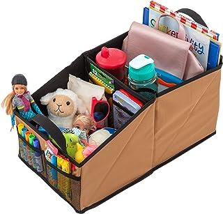 منظم مقعد السيارة لوسو جير للمقعد الأمامي أو الخلفي - رائع للبالغين والأطفال، يتميز بـ 9 مساحات تخزين للألعاب والمجلات وال...