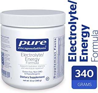 Pure Encapsulations - Electrolyte/Energy Formula - Hypoallergenic Supplement to Support Physical and Mental Stamina* - 340 Grams