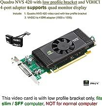 PNY Quadro NVS 420 PCI-Express x 16 with VHDCI to Quad DVI Port Adapter