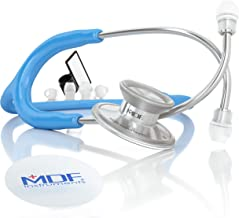 MDF Acoustica Deluxe Lightweight Dual Head Stethoscope - Free-Parts-for-Life & Lifetime Warranty - Bright Blue (MDF747XP-14)