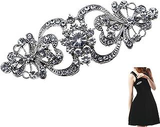 Spilla da donna a forma di fiore con strass di cristallo