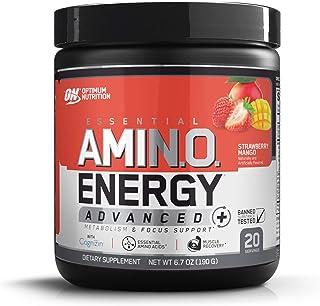 Optimum Nutrition Essential Amino Energy Advanced Plus Metabolism and Focus Support, Strawberry Mango, 20 Servings