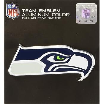 60471 FANMATS Team ProMark Seattle Seahawks Heavy Duty Aluminum Color Emblem Medium Team Color