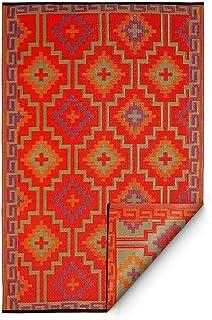 Fab Hab Lhasa-Naranja y Violeta (120cm x 180cm