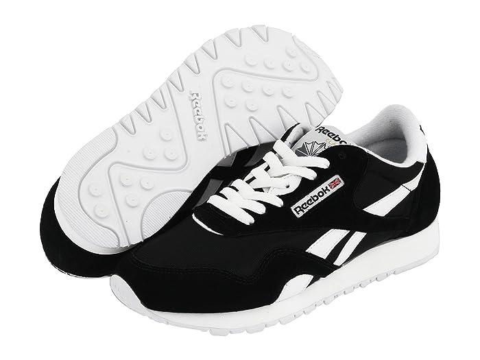 Reebok Lifestyle  Classic Nylon W (Black/White) Womens Classic Shoes