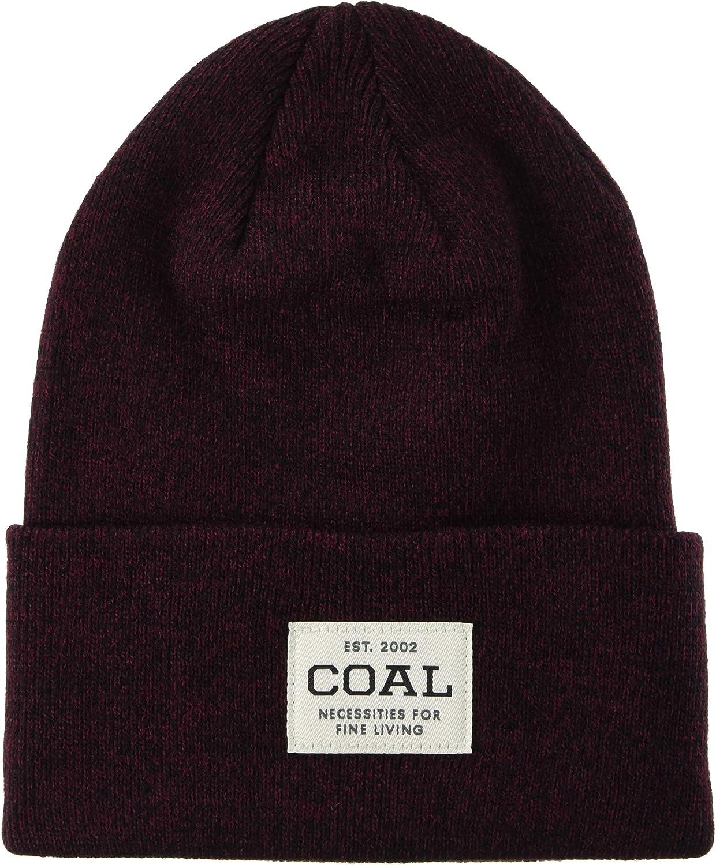 Coal Mens The Uniform Fine Knit Workwear Cuffed Beanie Hat