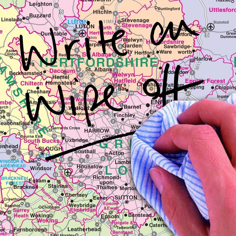 Mapa político de Europa para pared (laminado): Amazon.es: Oficina ...